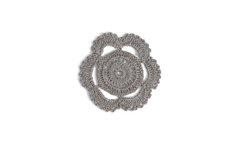 Knitted Linen Coaster - Flower