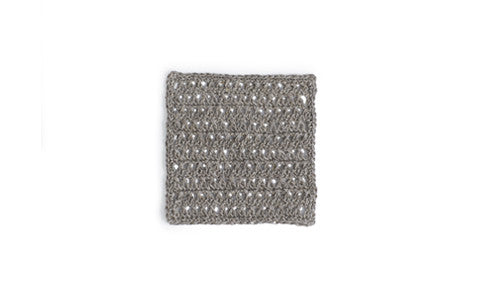 Knitted Linen Coaster - Square
