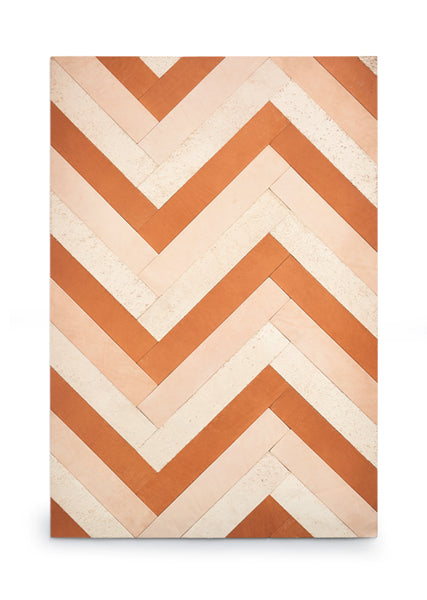 Herringbone Leather Rug