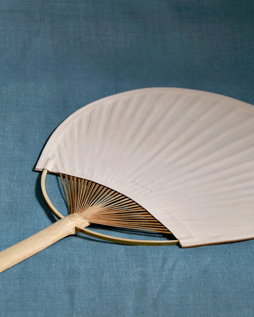 Hender Scheme Leather Uchiwa Fan