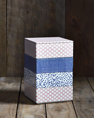 - Porcelain Box - Blue Stripe