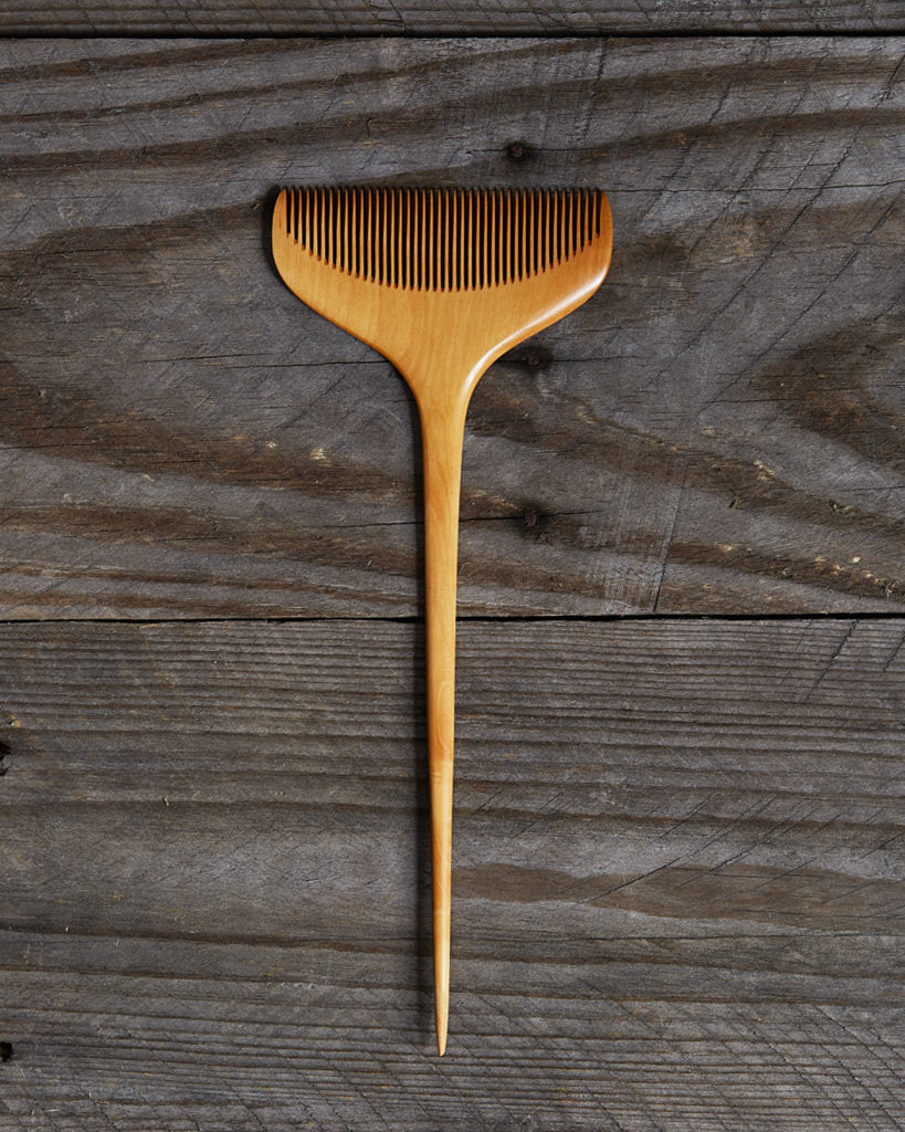 Jusan-Ya Large Sugitate Boxwood Comb