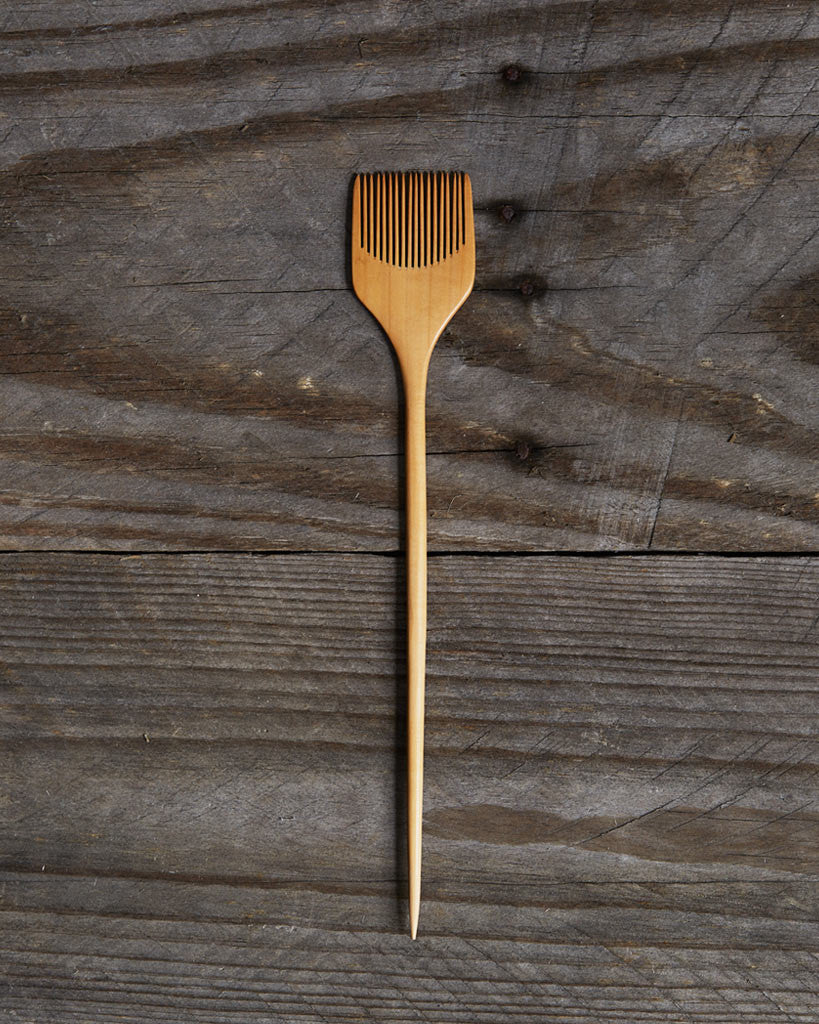 Jusan-Ya Small Sugitate Boxwood Comb