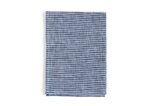 Linen Kitchen Cloth - Grey with White Stripes