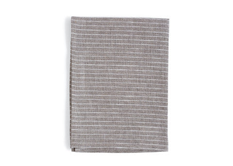 Linen Kitchen Cloth - Natural with White Stripes