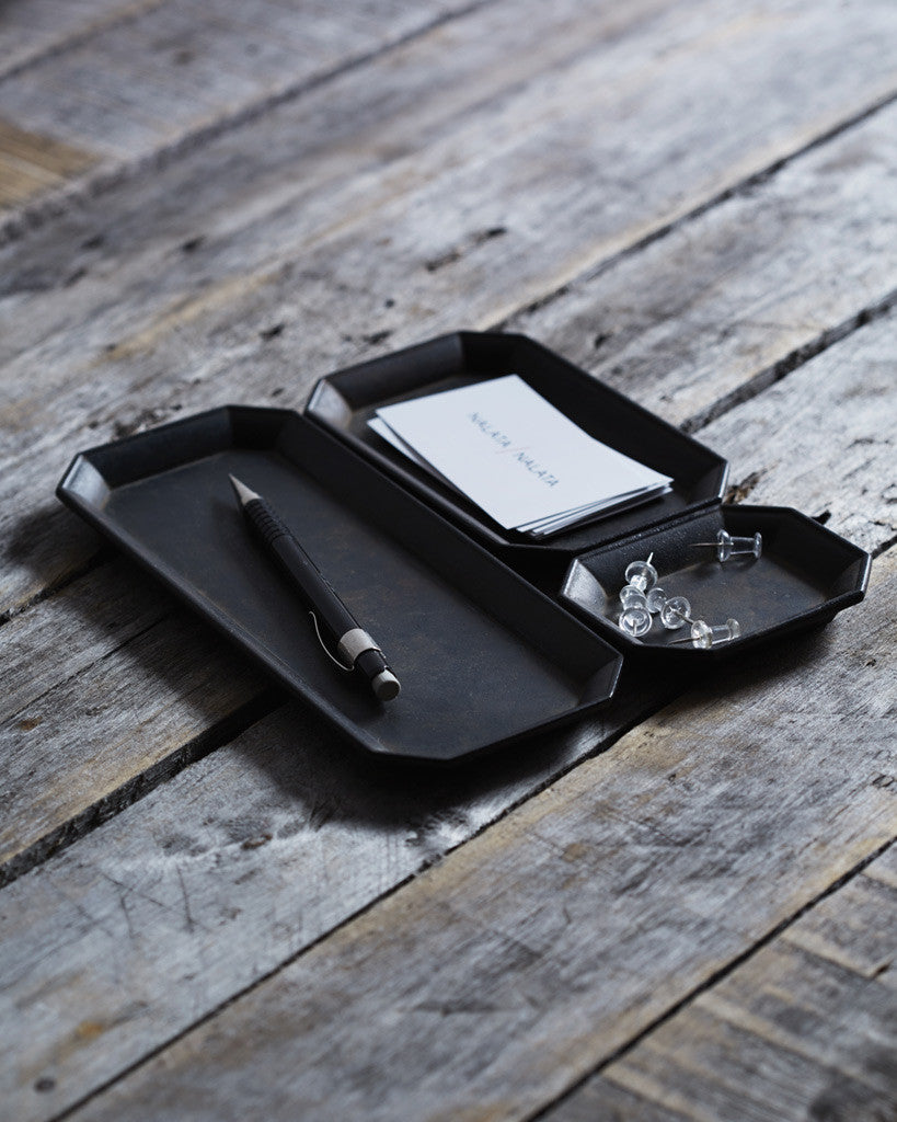 Futagami Kuro-mura Stationary Tray Set