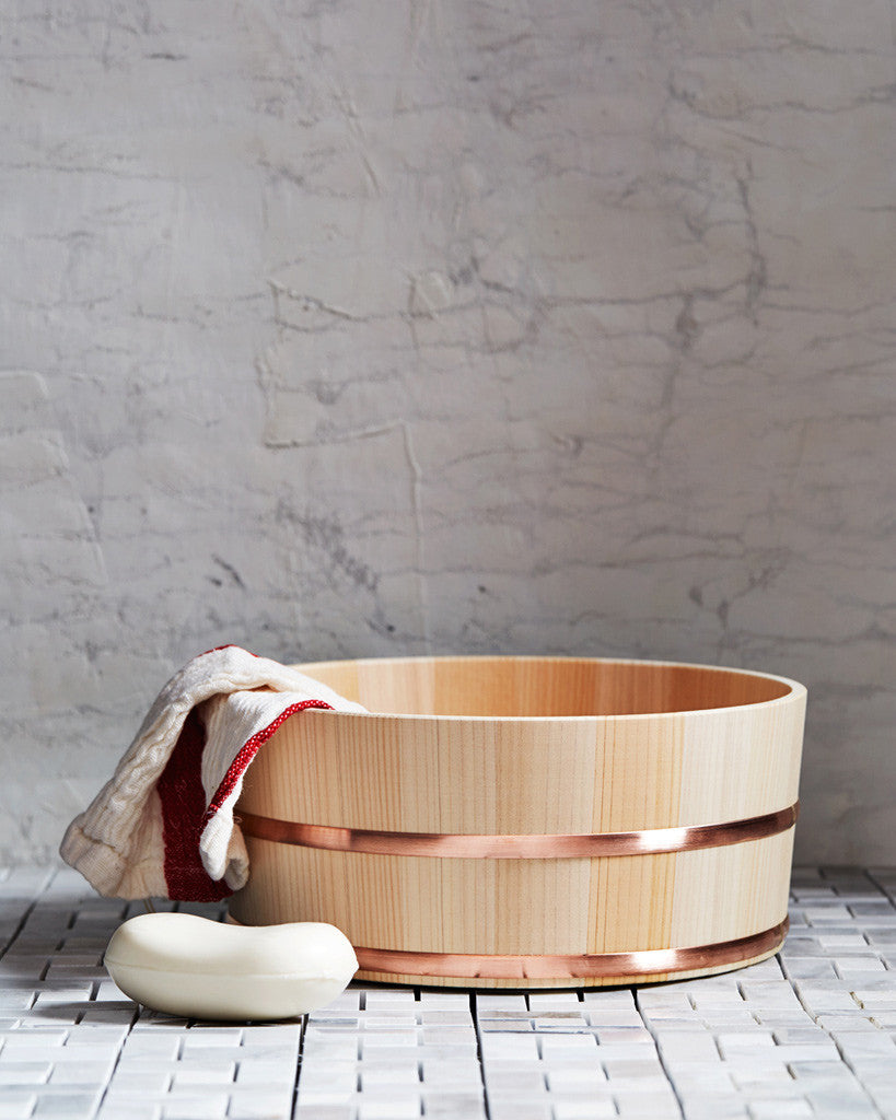 Kiso Lifestyle Labo Hinoki Copper Bath Bucket