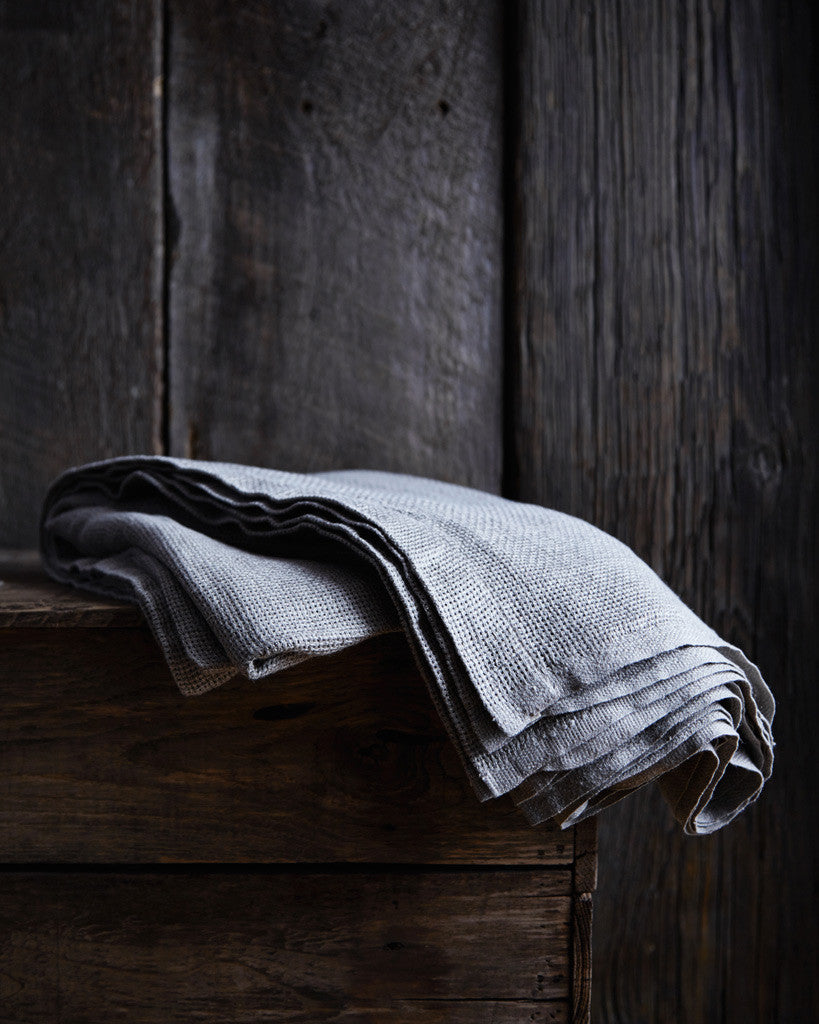 Fog Linen Work Linen Blanket - Natural