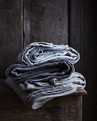 Fog Linen Work Linen Blanket - Grey (OUT OF STOCK)