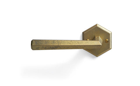 Door Handle and Mortise - 'Hexagon' Lever
