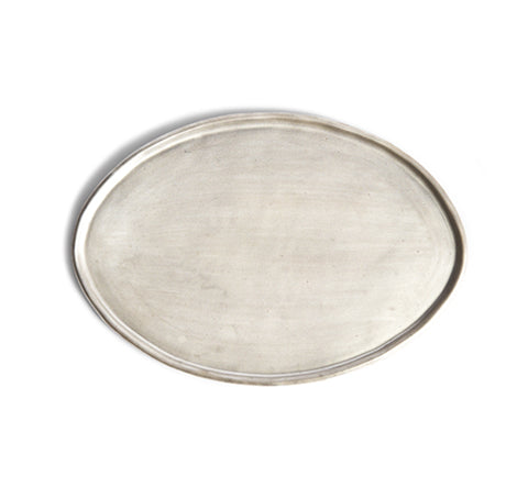 White Silver Oval Tray