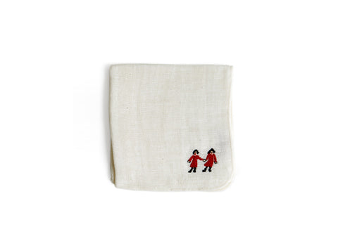 Embroidered Handkerchief Cloth - Friends