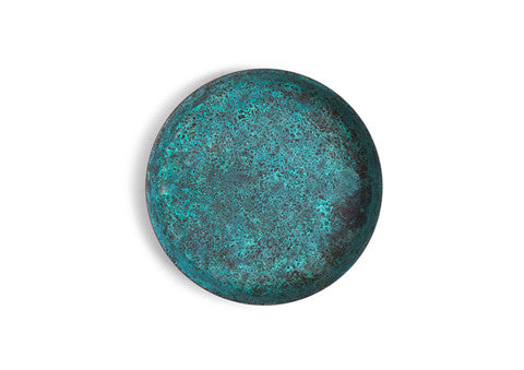 Oxidized Copper Dish - Green