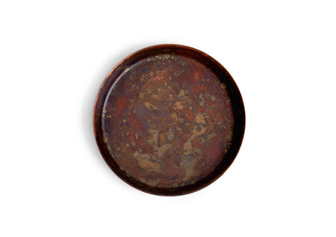 Oxidized Copper Dish - Red