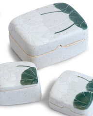 Momoko Otani Sgraffito Treasure Box - Green Lotus