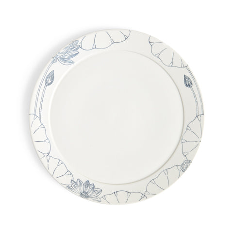 Painted Porcelain Dinner Plate
