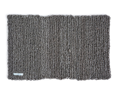 Knitted Linen Floor Mat - Natural
