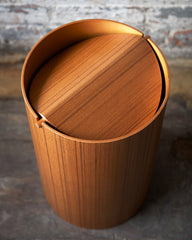Saito Wood Co. Ayous Paper Waste Basket with Lid - Large