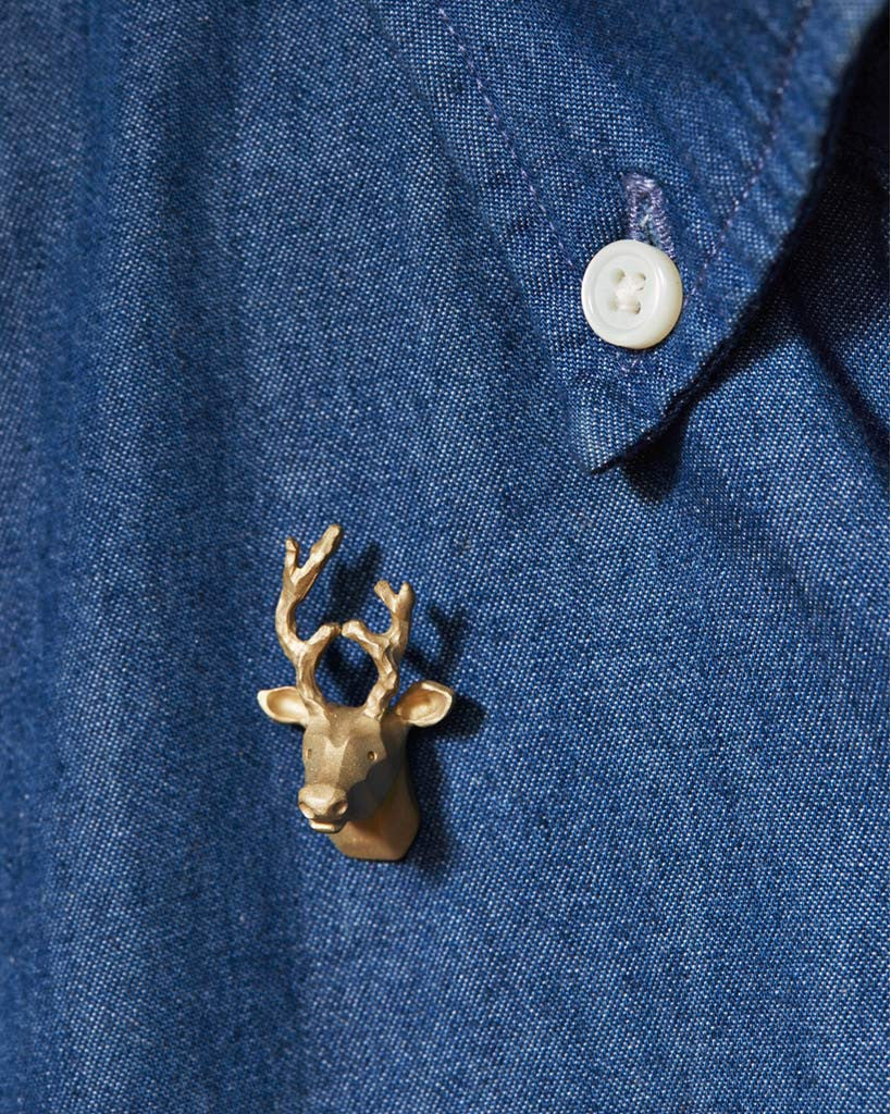 Proof Of Guild Brass Deer Pin (OUT OF STOCK)