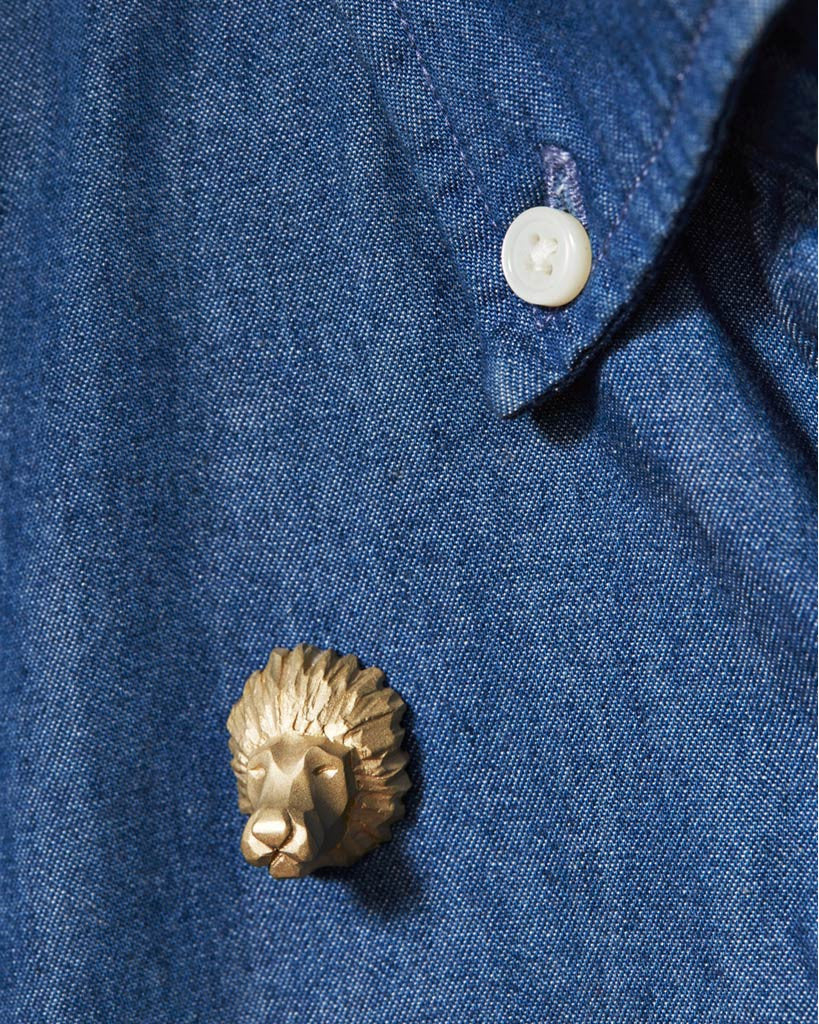 Proof Of Guild Brass Lion Pin