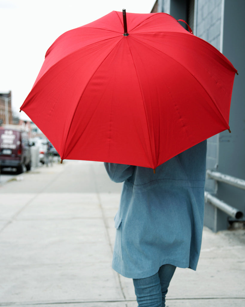 Umbrella Shop Cotton Umbrella - Red