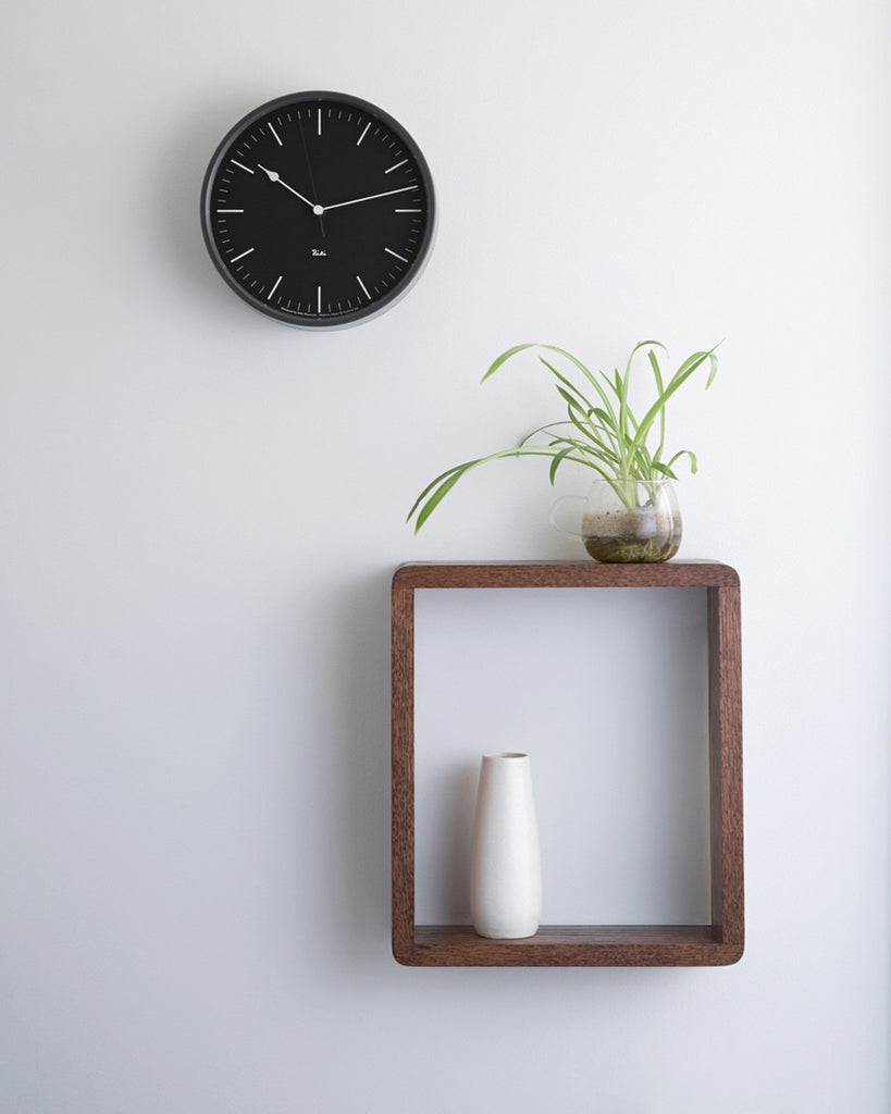 Lemnos Riki Steel Clock - Midnight Black