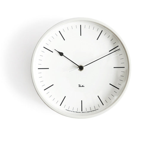 Riki Steel Clock - Ivory White