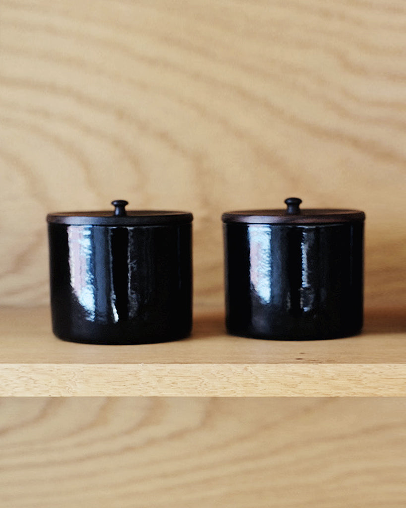 Ryuji Mitani x Masaki Kanamori Wood and Enamel Salt Cellar (OUT OF STOCK)
