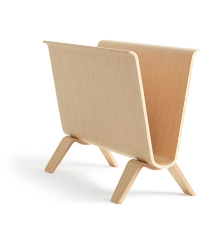 White Oak Magazine Rack