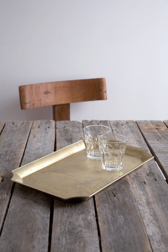 Futagami Brass Serving Tray - Rectangle