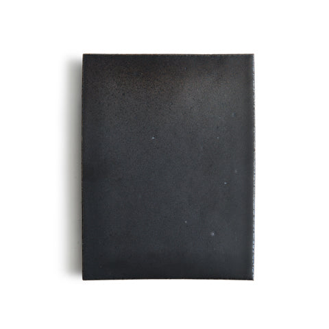 Black Raised Ceramic Tray - Wide