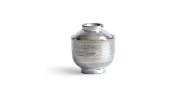 Mini Lidded Container - Silver