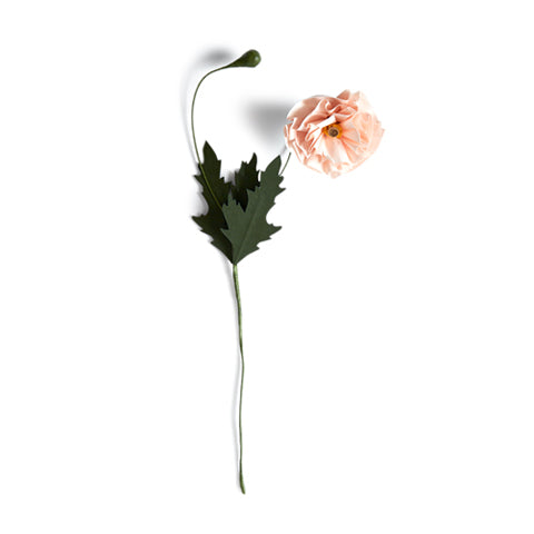 Paper Flower - Pink Poppy (OUT OF STOCK)