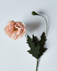 Onao Co. Paper Flower - Pink Poppy (OUT OF STOCK)