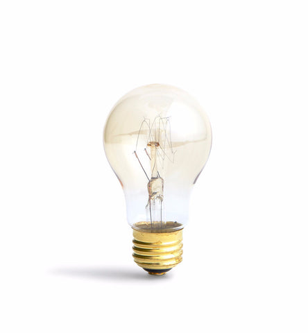 Tungsten Filament Light Bulb - Oblong 'F-55' (OUT OF STOCK)