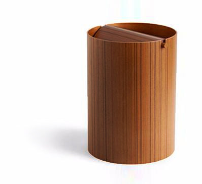 Ayous Paper Waste Basket with Lid - Small