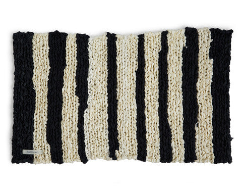 Knitted Linen Floor Mat - Striped