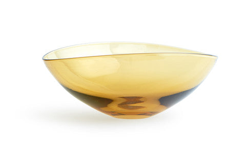 Glass Lotus Bowl Large - Amber (OUT OF STOCK)