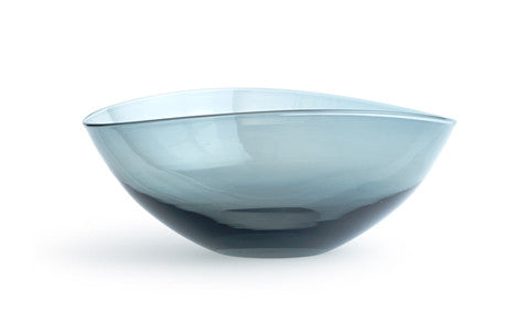 Glass Lotus Bowl Large - Black