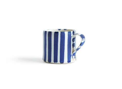 Striped Coffee Cup - Even Blue, Even White (OUT OF STOCK)