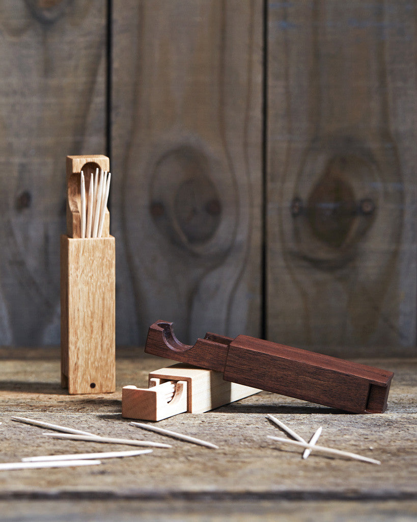 Tanno Toothpick Case - Japanese Oak (OUT OF STOCK)