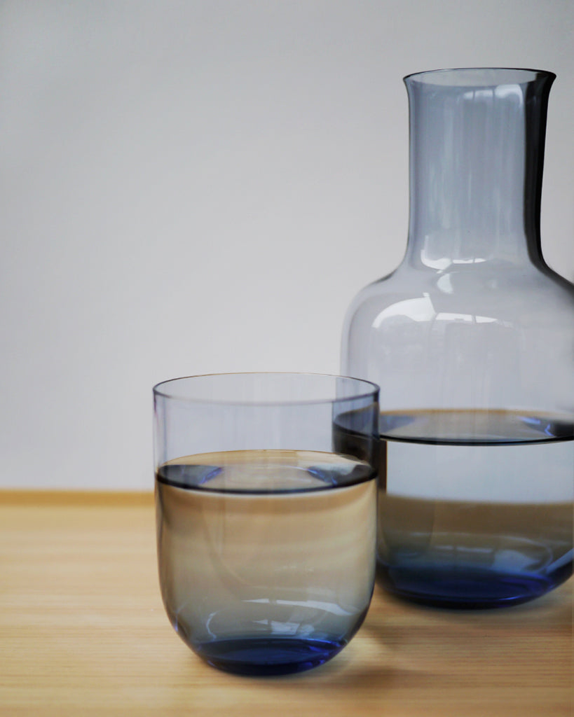 Toyo-Sasaki Glass Night Carafe - Blue