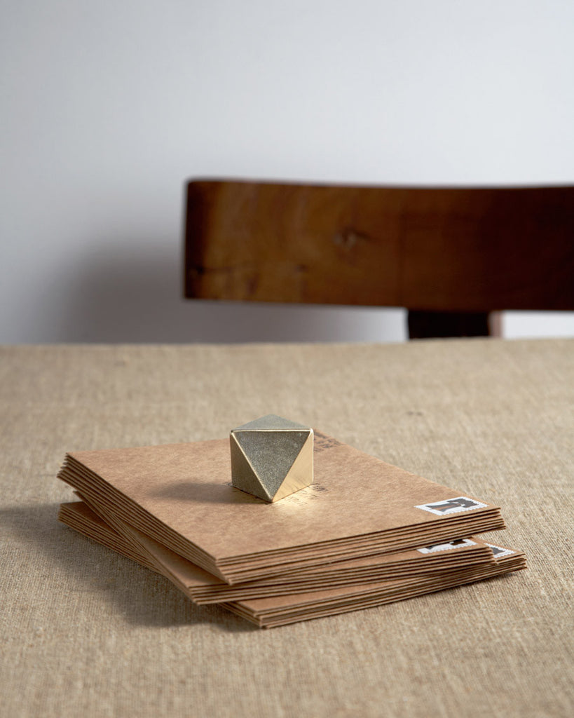 Futagami Brass Paperweight - Triangle