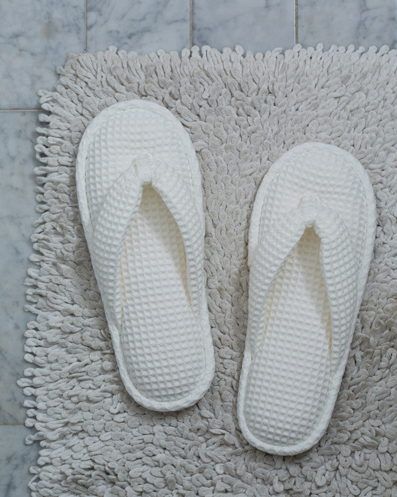 Uchino White Waffle Slippers (OUT OF STOCK)