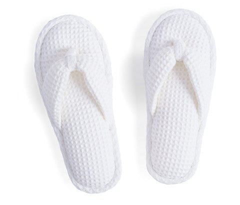 White Waffle Slippers (OUT OF STOCK)