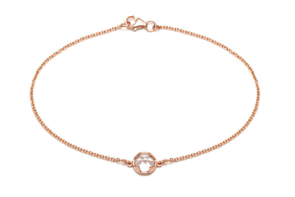 Rosecut Topaz Bracelet in Rose Gold / 7 in