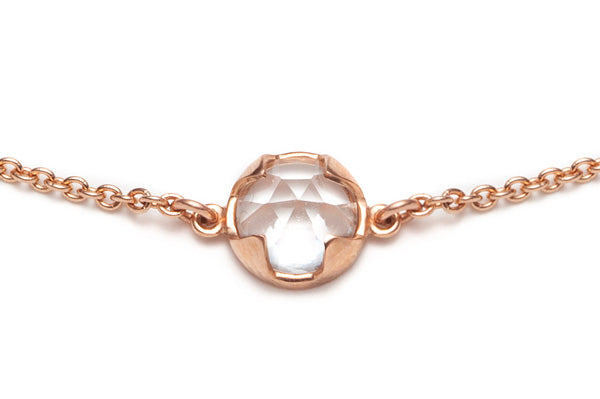 Load image into Gallery viewer, Rosecut Topaz Bracelet in Rose Gold / 7 in