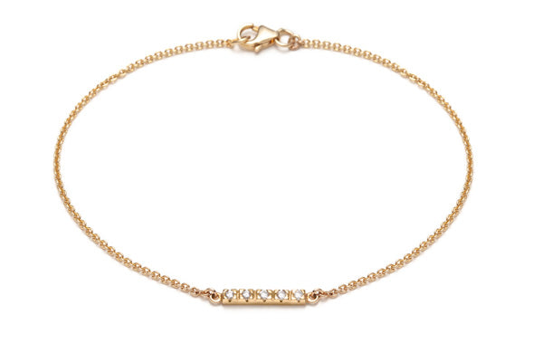 Horizon Diamond Bracelet in Yellow Gold / 7 in