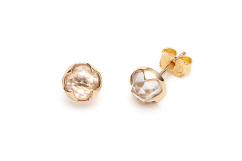 Rosecut Topaz Earrings