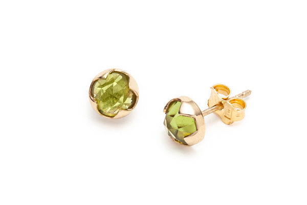 Rosecut Peridot Earrings